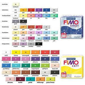 Fimo Soft Effect Modelliermasse Knete 10x 57g 570g 10er Set Farbwahl per Mail