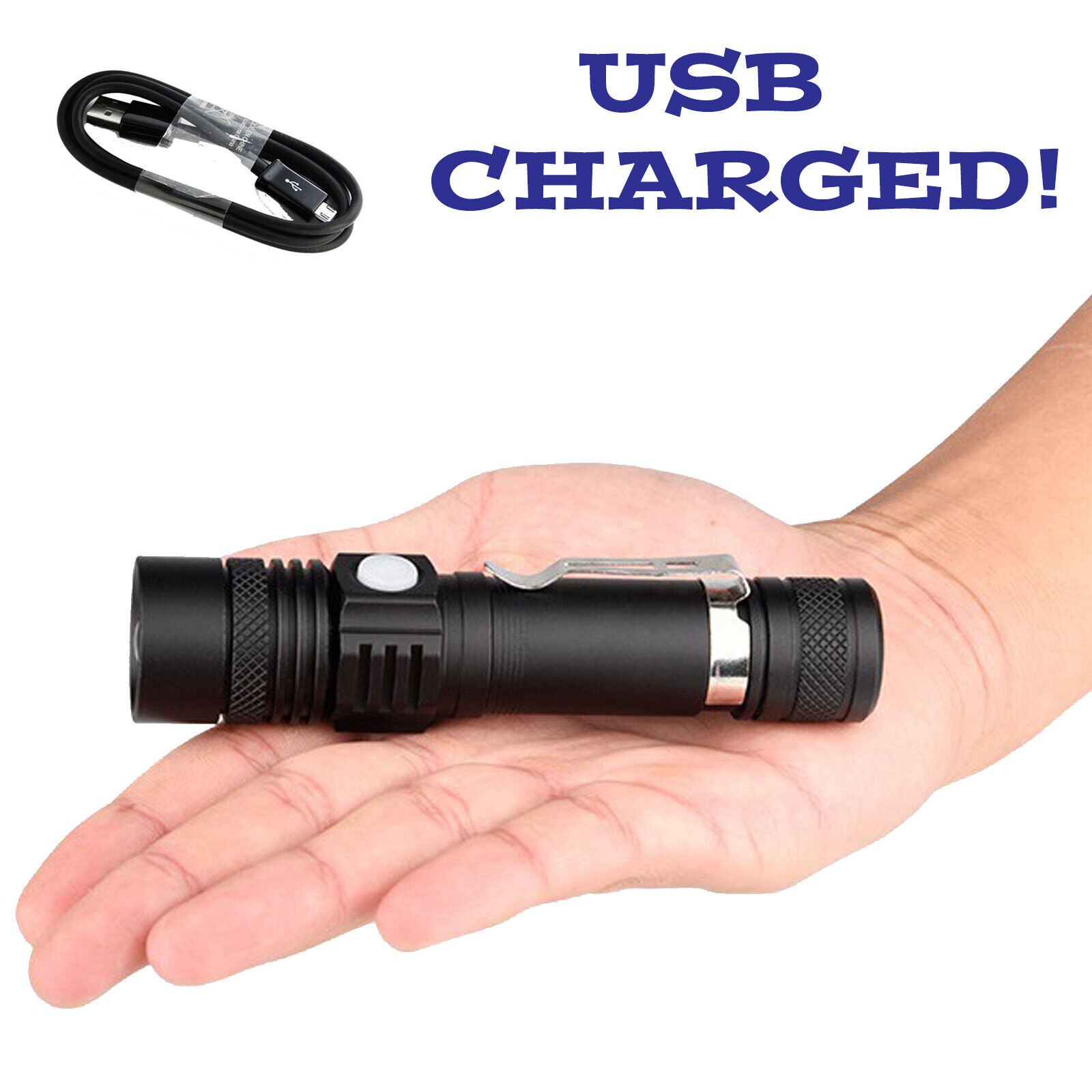 20000Lumen T6 LED 3Modes USB Rechargeable 18650 Flashlight Torch Zoom Lamp Light Camping & Hiking