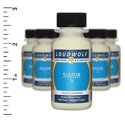 Sulfur 10 Oz Total 10 Bottles Reagent Grade Finely Milled Flour Usa Seller