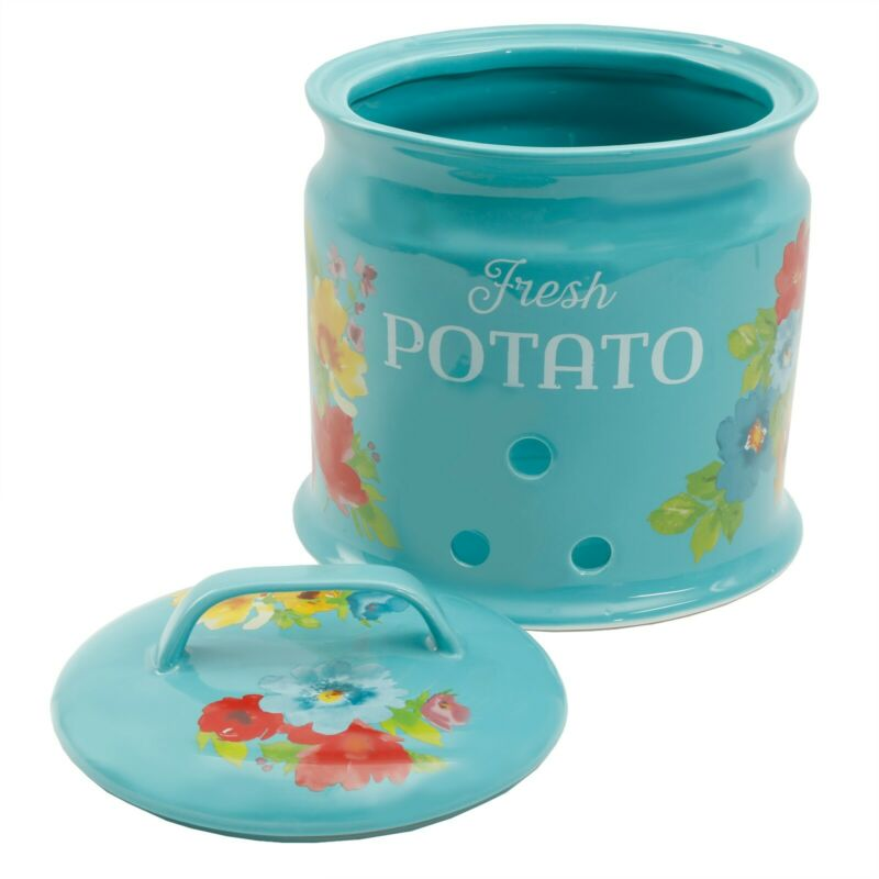New Pioneer Woman Potato Keeper Ceramic Stoneware Crock
