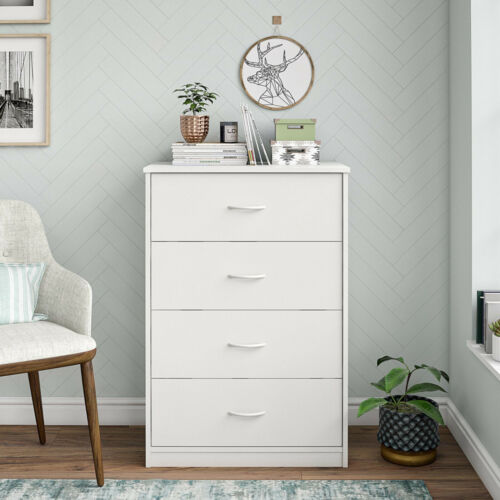 Mainstays Classic 4 Drawer Dresser, White Finish, DW70991.