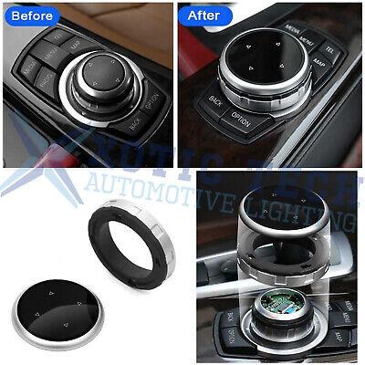 1pc Silver Multi - Media Knob Controller Wheel Cover For BMW X1 X3 X5 X6 IDRIVE