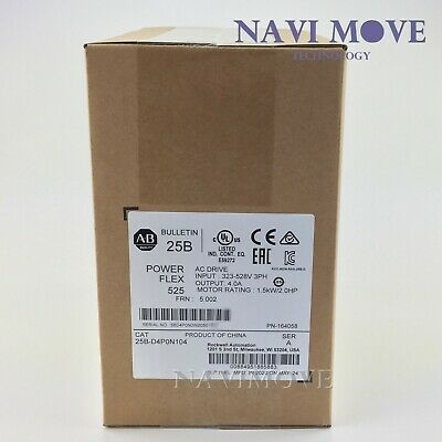 2020 New Sealed Allen Bradley 25b-d4p0n104 Ser A Powerflex 525 2hp Ac Drive Usa