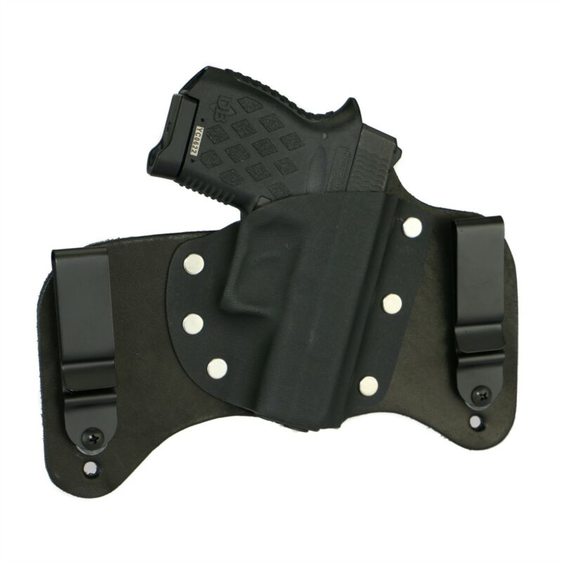 FoxX Leather & Kydex IWB Hybrid Holster Diamondback DB9 Black Right Tuckable