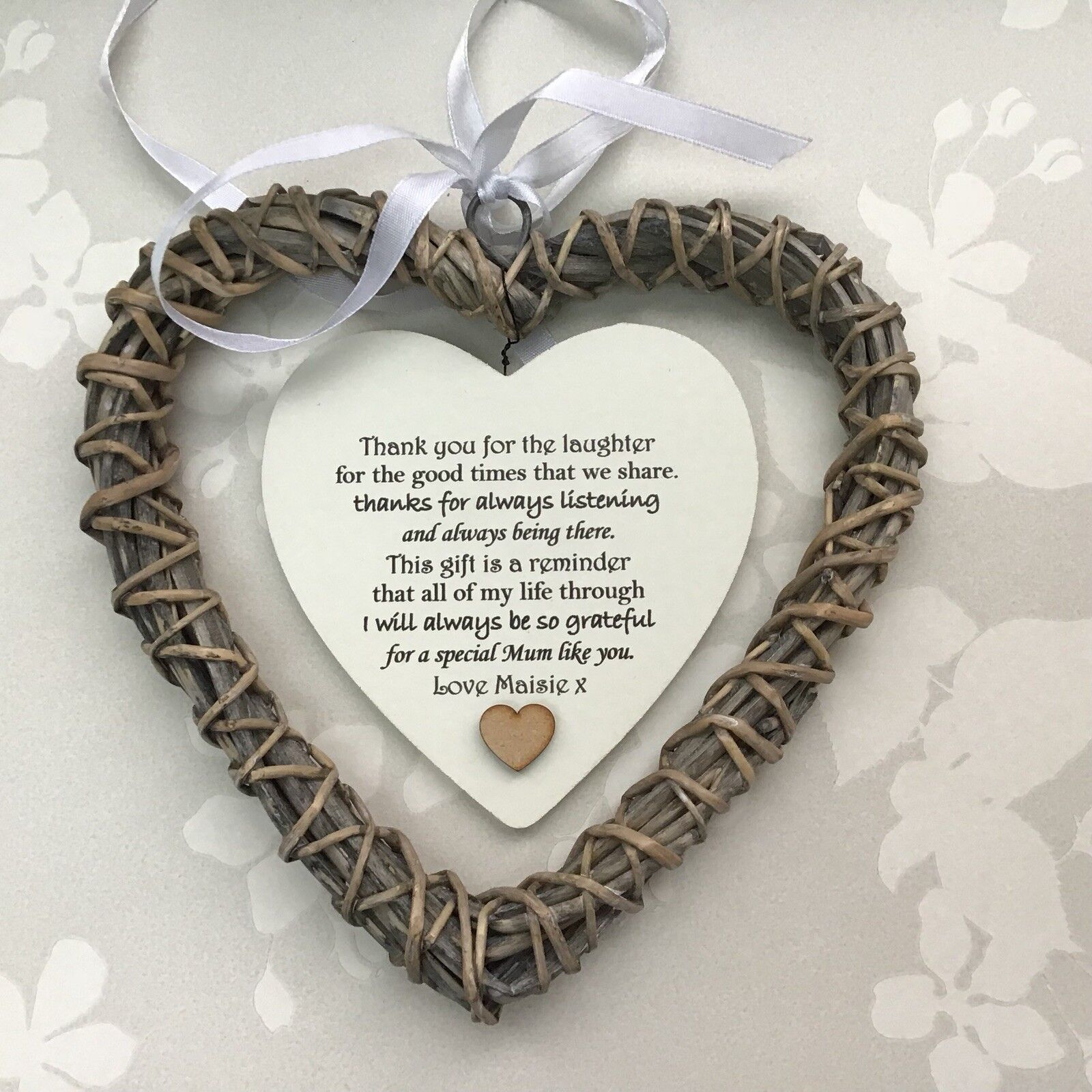 Shabby personalised Chic Special MUM MAM MUMMY Present OR ANY NAME Willow Heart