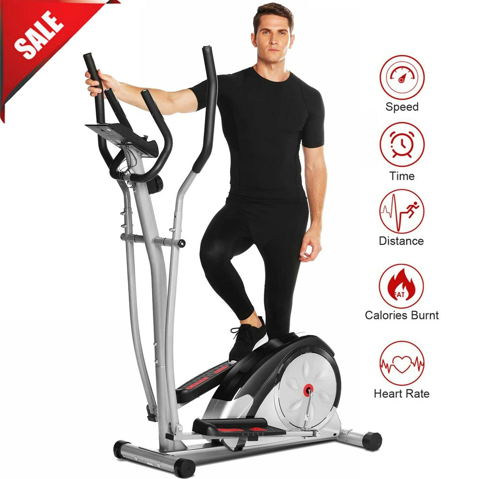 ANCHEER  Elliptical Machine Magnetic Exercise Trainer Smooth