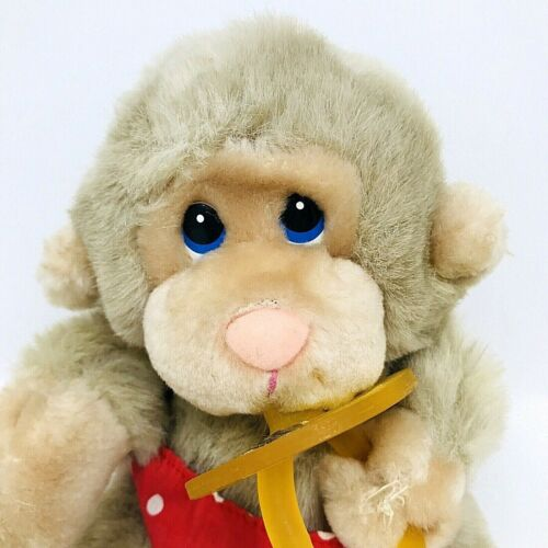 Russ Baby Chee Chee Monkey With Pacifier & Diaper Plush Stuffed Animal 7