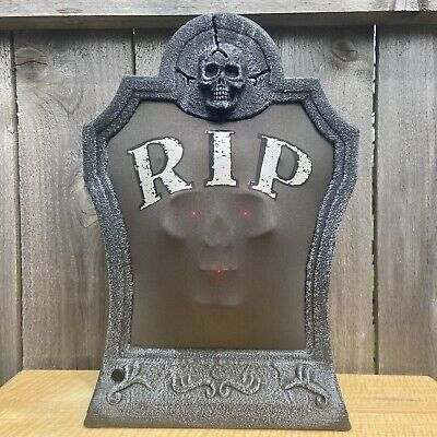 Animated R.I.P. Tombstone w/ Pop-Out Skull Face - PAC Halloween 2006