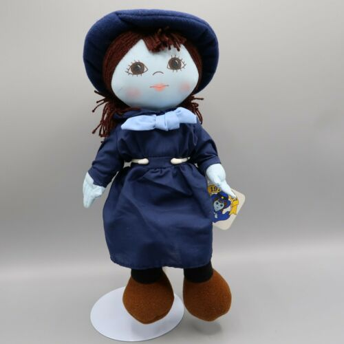 """1986 Plush Girl Scout Doll Burry Lu Biscuit Company Blue 12"""" Tall"""