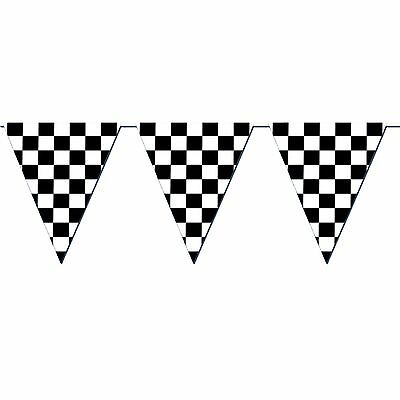 GIANT Racing CHECKERED FLAG PENNANT BANNER Party Decoration NASCAR Car Shows - Checkered Flag Pennant Banner
