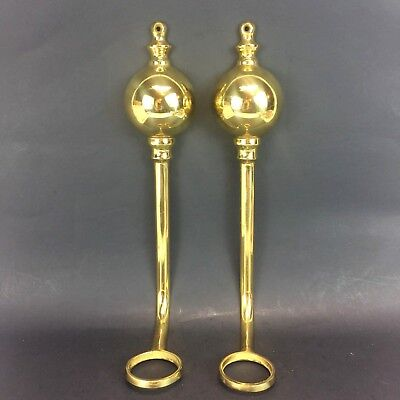 - Set of Brass Candle Wall Sconce Holds glass Tea Light or Votive Cups 13