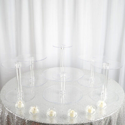 6 Tiers Clear Acrylic Wedding Events CAKE Stand Birthday Party Catering Display