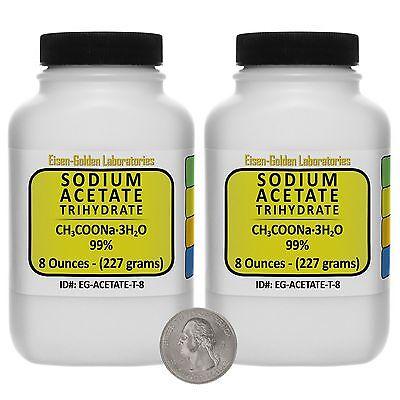 Sodium Acetate Trihydrate Ch3coona.3h2o 99 Acs Grade Powder 1 Lb Usa