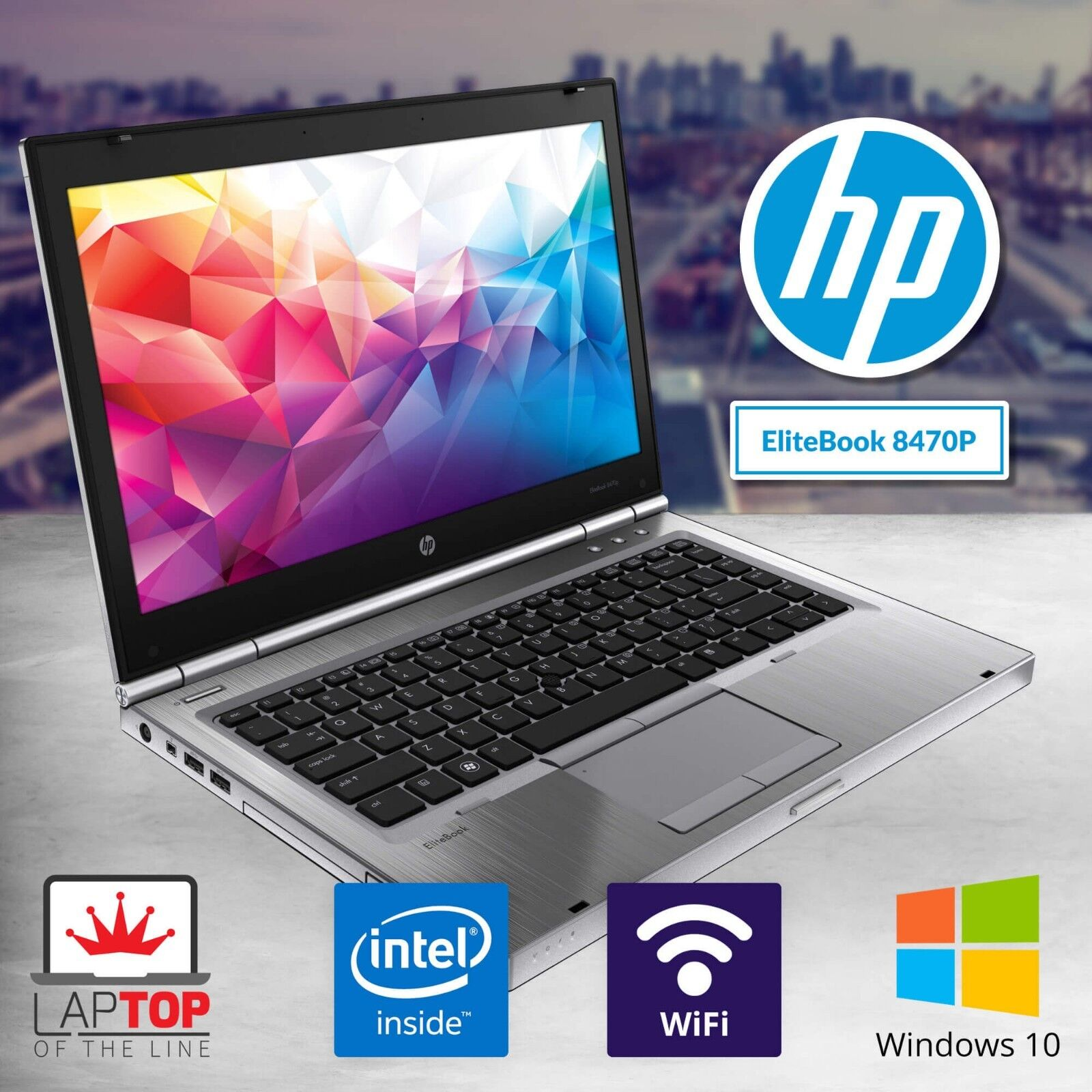 Fast HP Laptop Computer Intel i5 8GB RAM 500GB HD Windows 10 Pro PC WiFi Webcam
