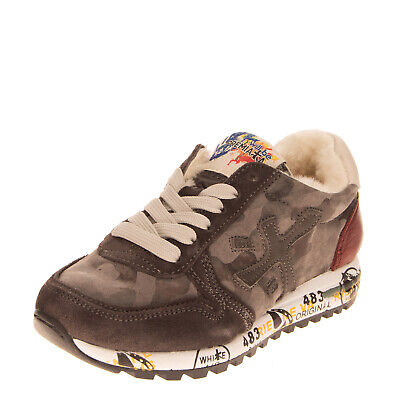 RRP €190 PREMIATA Leather Sneakers EU 28 UK 10 US 11 Shearling Lining Treated