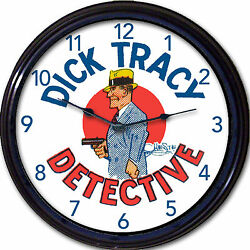 Dick Tracy Wall Clock Comic strip funnies police detective Chester Gould new 10