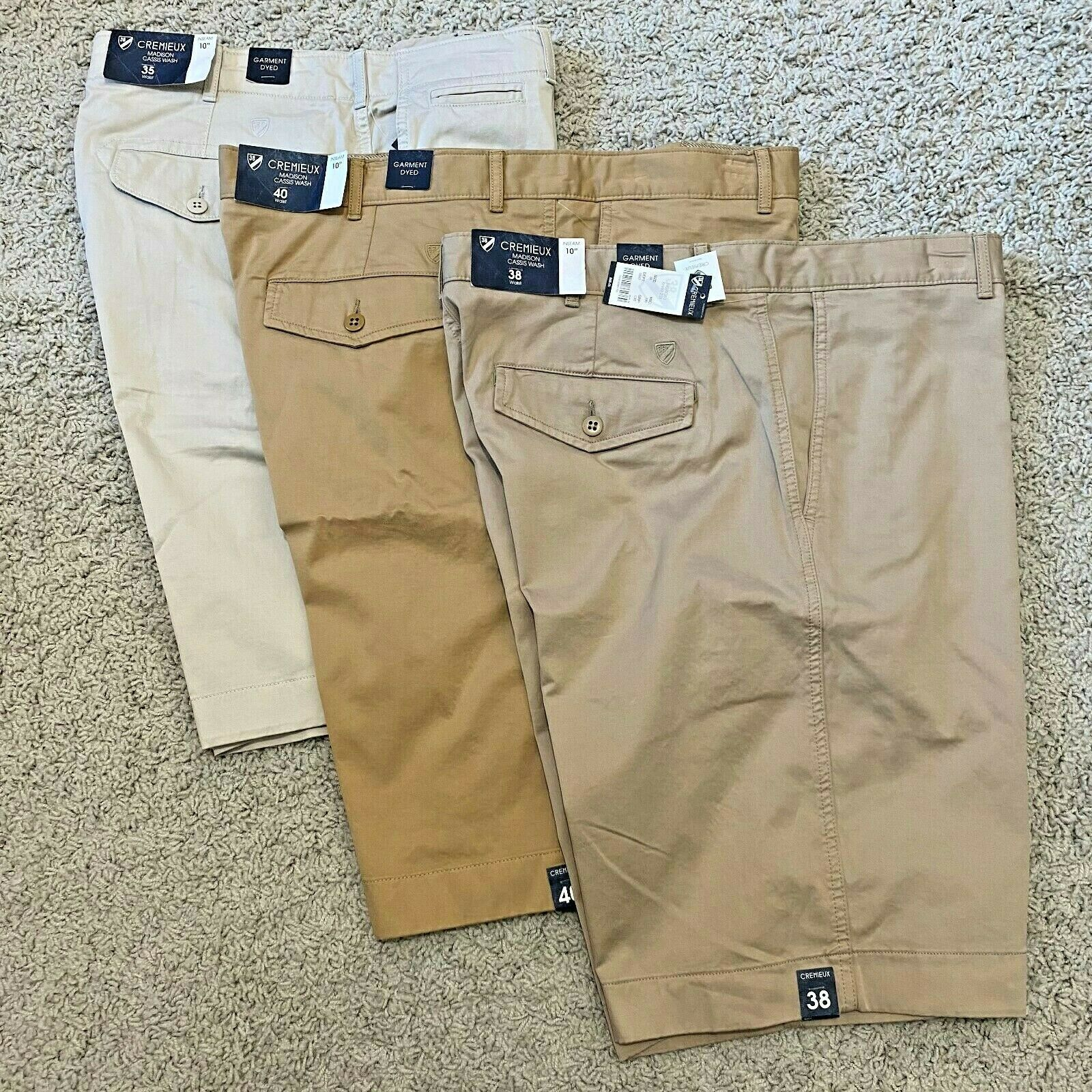 Cremieux Mens Madison Khaki Shorts Chino 10″ Cassis Wash 34 35 36 38 40 42 Clothing, Shoes & Accessories