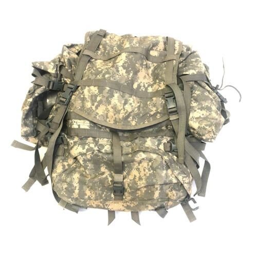 USGI Large Combat Rucksack, US Army MOLLE Ruck Backpack, ACU Digital Camo DEFECT