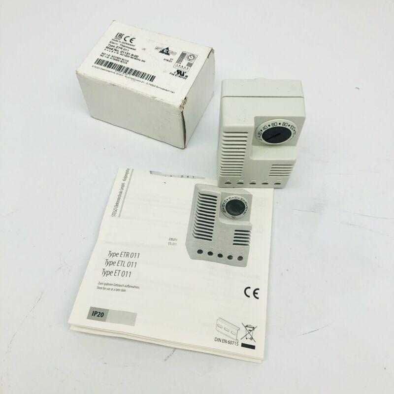 STEGO TYPE ETR011 MODELNO.01131-9-00 ELECTRIC THERMOSTAT AC 120V/50HZ/ 3W