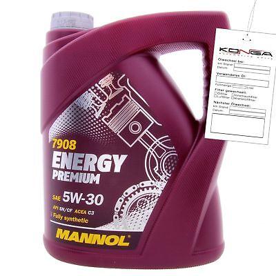 5 Liter MANNOL ENERGY PREMIUM 5W-30 C3 VW BMW LL-04 Motoröl 4036021501383