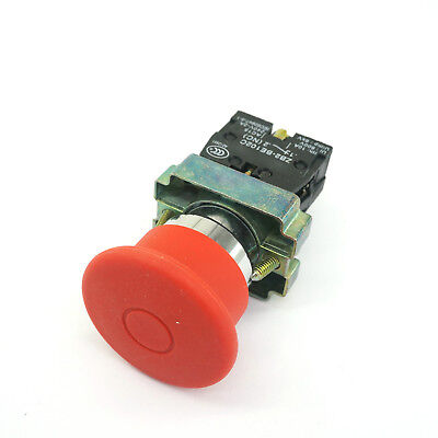 Xb2bt42c 1 Nc Emergency Stop Mushroom Head Red Pushbutton Switch 22mm
