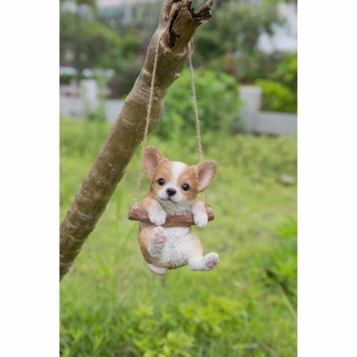Hanging CHIHUAHUA Puppy Dog - Life Like Figurine Statue Home Garden NEW