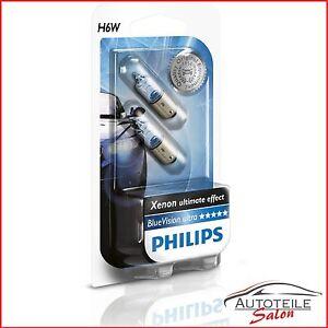Philips H6W BlueVision Ultra Standlicht 12036BVB2 2-er Set W210 S210 W208
