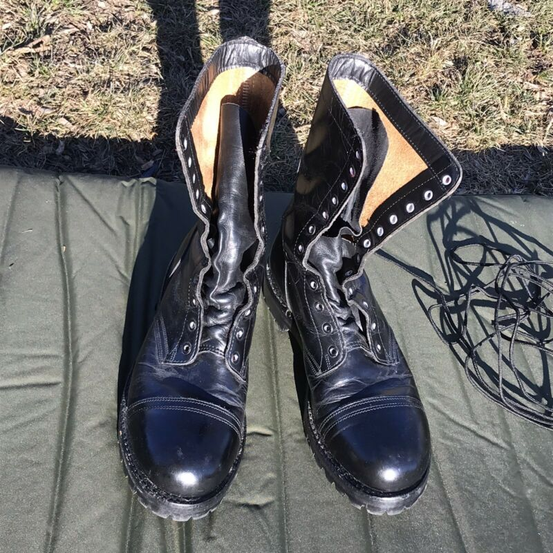 1990 Garrison Boots Steel Toe Size mens 9 E Wide Canadian Army Jump Boots
