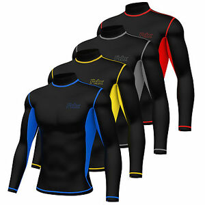 Mens-Super-Thermal-Compression-Armour-Base-Layer-Long-sleeve-Cold-Wear-Top