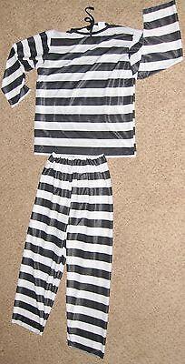 Black White Sz 42-46 Adult Spandex 2 Piece Prisioner Costume ](Prisioner Costumes)