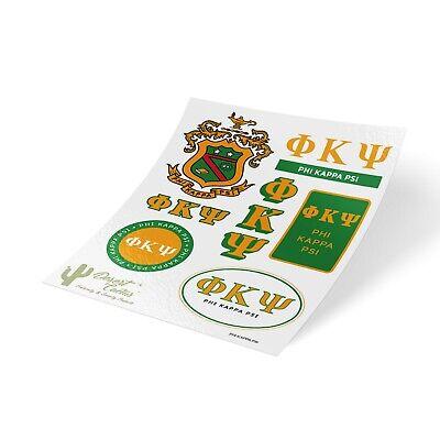 Phi Kappa Psi Traditional Sticker Sheet Decal Laptop (Full Sheet)