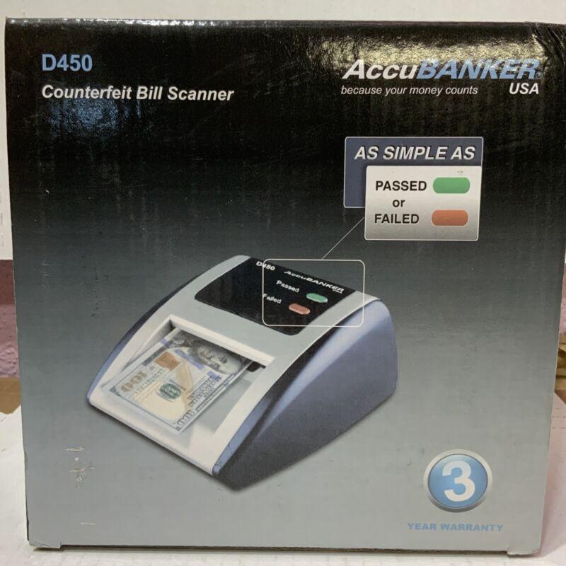 📀 AccuBanker *D450* Counterfeit Bill Scanner Detector