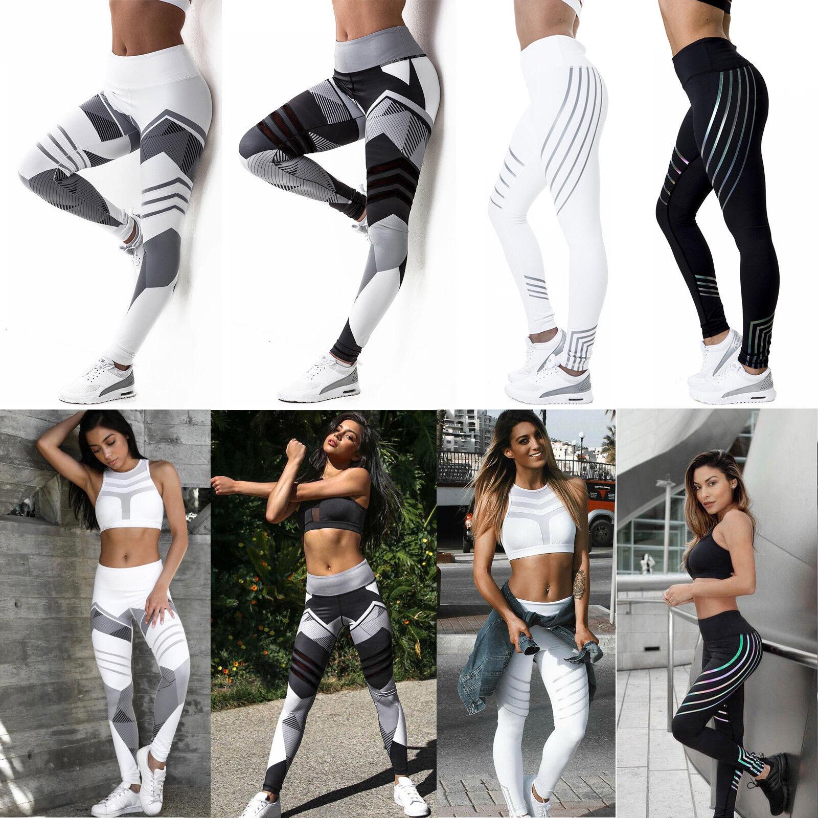 a02443dc5c78d Details about Womens Workout Leggings Yoga Gym Jogging Slim Fit Sports  Training Pants Trouser