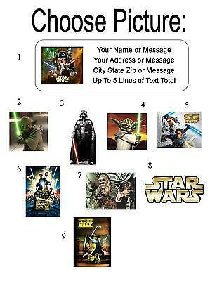 30 Star Wars Personalized Address Labels (Personalized Star Wars)