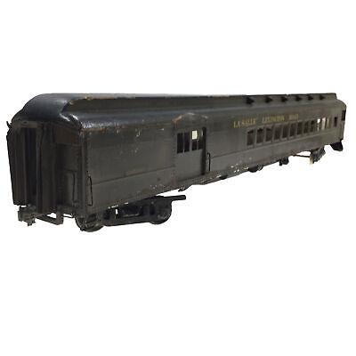 """Chicago La Salle Lexington Road Passenger Car 19.25"""" Vintage O Gauge Model Train"""