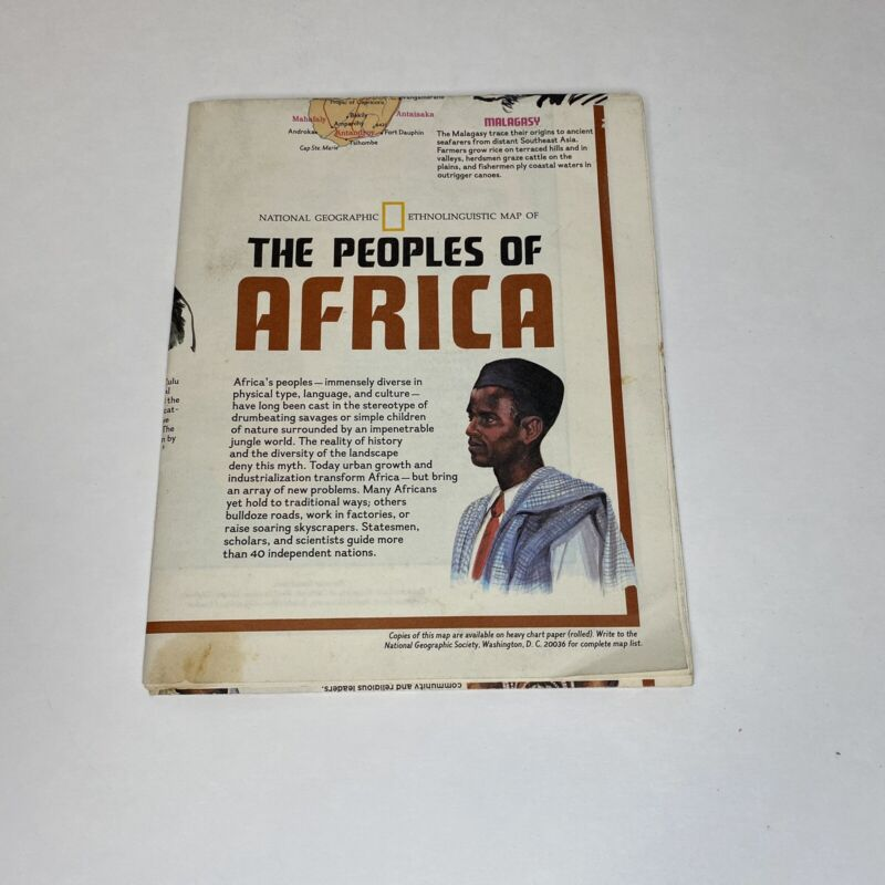 National Geographic Magazine December 1971 - Peoples Heritages of Africa Poster