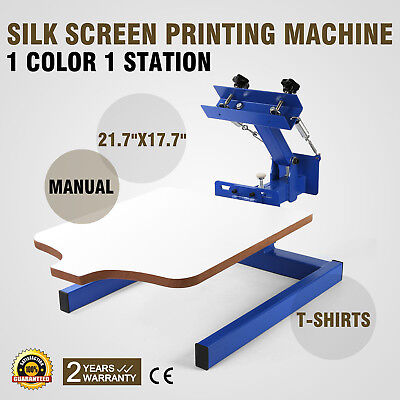 1 Color 1 Station Silk Screen Printing Machine Manual Pressing Glass T-shirt
