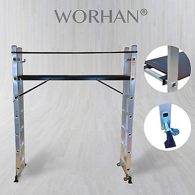 Escalera Andamio con Plataforma y Ruedas Multifunction 5 en 1 de Aluminio...