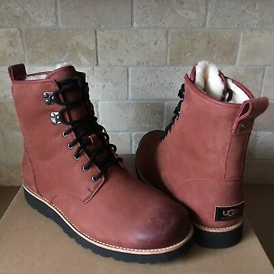 UGG HANNEN TL RED OXIDE WATERPROOF LEATHER  WORK WINTER BOOTS SHOES SIZE 10 MENS Red Waterproof Leather