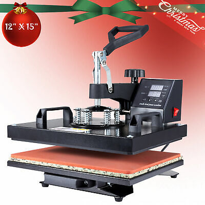 Heat Press Machine 360 Swing Away Digital Sublimation T-shirt Pad 12x15