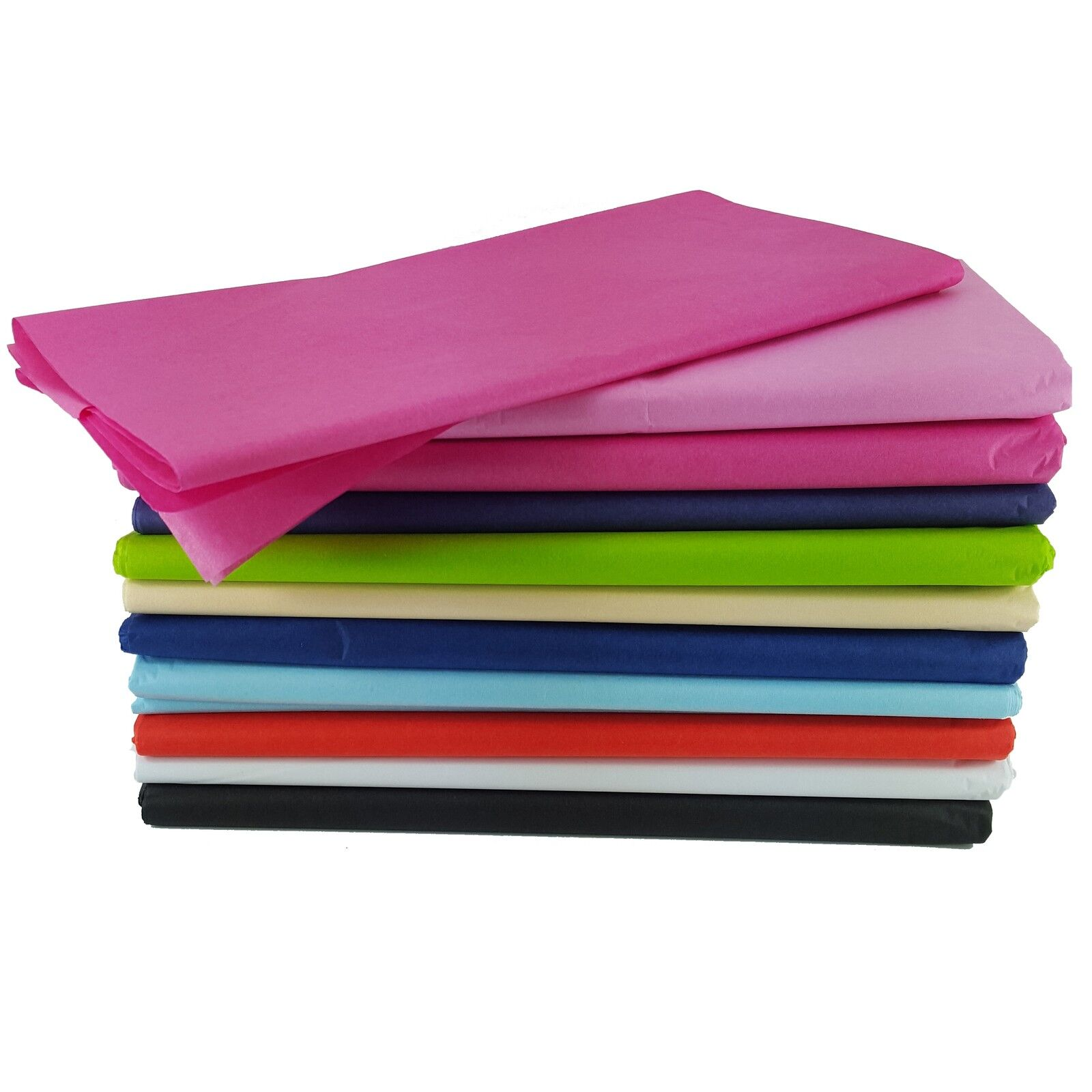 TISSUE PAPER SHEETS ACID FREE COLOURED BLACK WHITE Wrapping 50cm x 75cm NEW