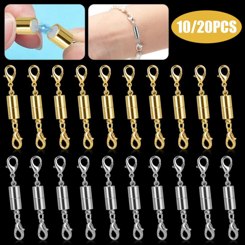 Strong Magnetic Lobster Claw Lock Clasps Necklace Bracelet Jewelry Hook Extender