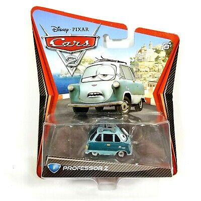 Mattel Disney Pixar Cars 2 PROFESSOR Z Zundapp #6 Car 1:55 Scale Rare