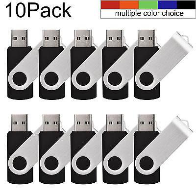 Kootion Schwarz 10 Stück 1G 2G 4G 8G 16G 32G 64GB USB 2.0 Sticks Speicherstick  10 Stück Usb