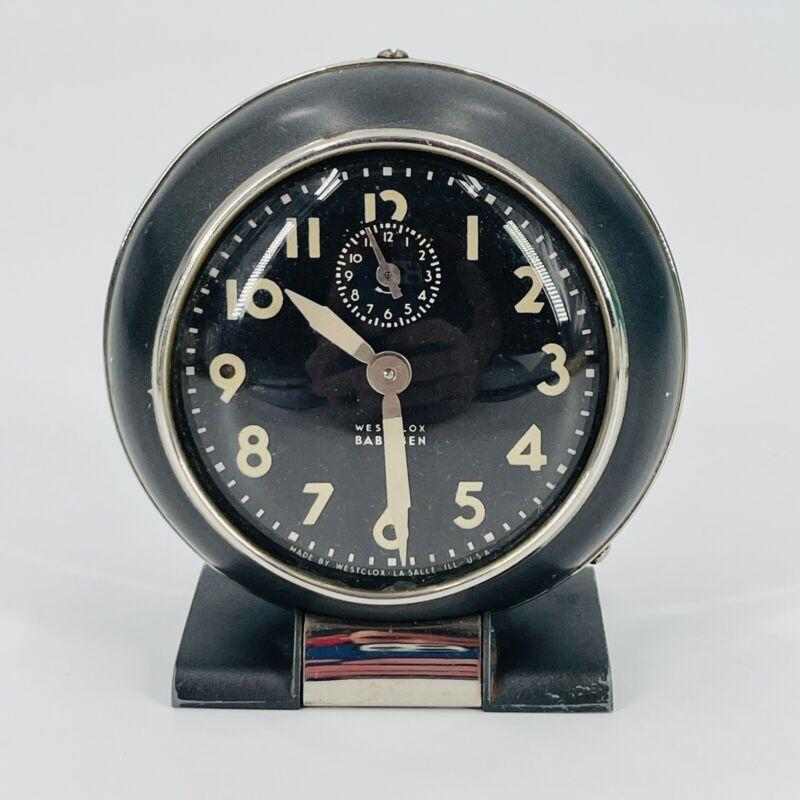 Vintage Westclox Baby Ben 61-R Mechanical Wind Up Alarm Clock-Works TESTED