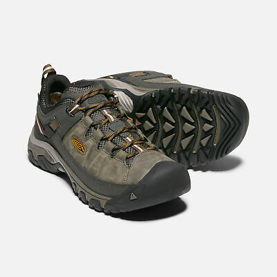Keen Men's Targhee Waterproof Walking Shoes (Black Olive/Golden Brown)