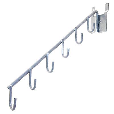 5-pack. J-hook Waterfall Pegboard 6 Hook Display Peg Board Silver