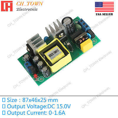 Ac-dc 15v 1.6a 24w Power Supply Buck Converter Step Down Module High Quality Usa