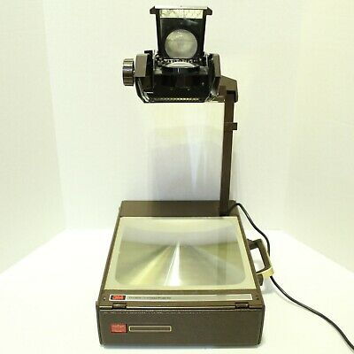 Vintage 3m Portable Overhead Projector 6200agb Briefcase Travel Brown Tested