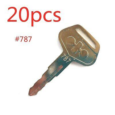 20pc For Komatsu Heavy Equipment 787 Key Excavator Dozer Loader Backhoe Starter